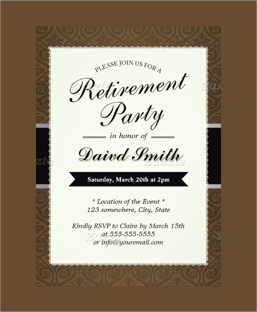 Sample Invitation Template Download Premium and Free Documents in – Retirement Party Invitation Template Free