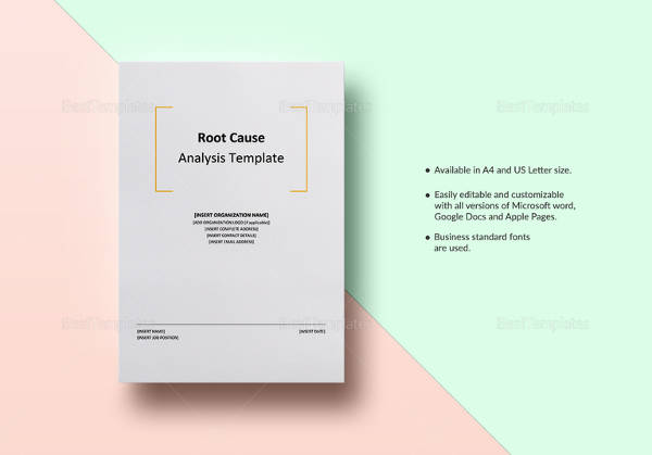 root cause analysis template1