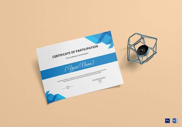 sailing participation certificate template