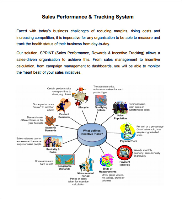 sales performance and tracking system