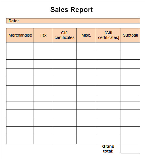 Daily Sales Template. sample sales call report 7 documents in pdf ...