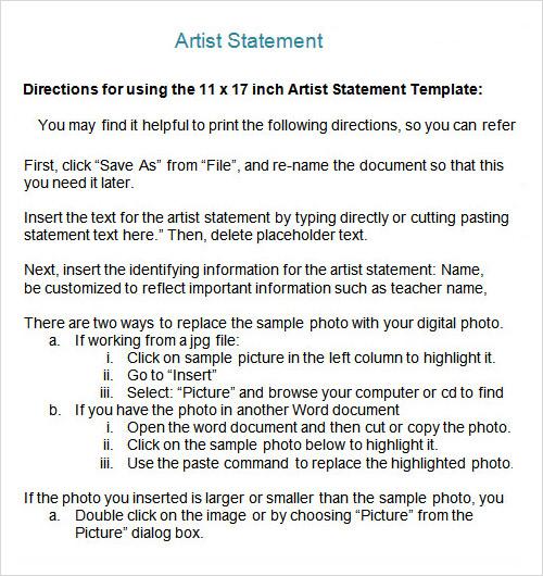 7 sample statements sample templates. Black Bedroom Furniture Sets. Home Design Ideas