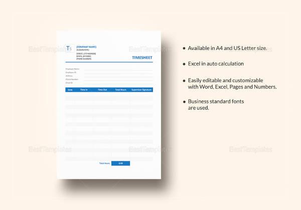 sample blank timesheet template1