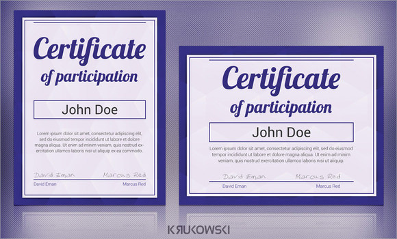 7 Sample Participation Certificate PSD PDF