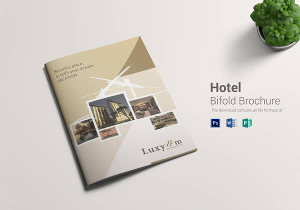 bi fold brochure templates free download - 13 hotel brochure templates sample templates