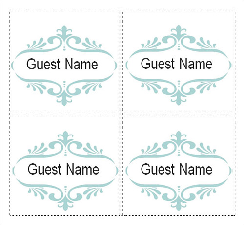 sample place card