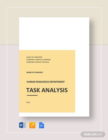 sample task analysis1