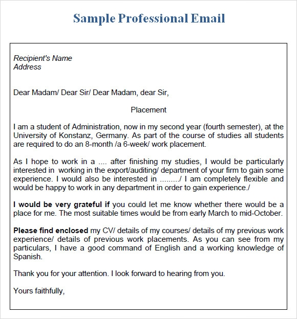 Sample Professional Email Templates to Download VmcSSWzf