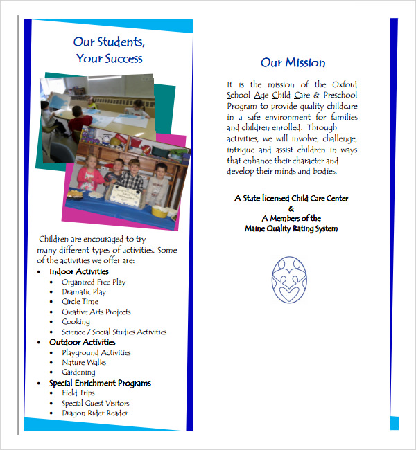 24 useful school brochure templates sample templates for Free brochures template