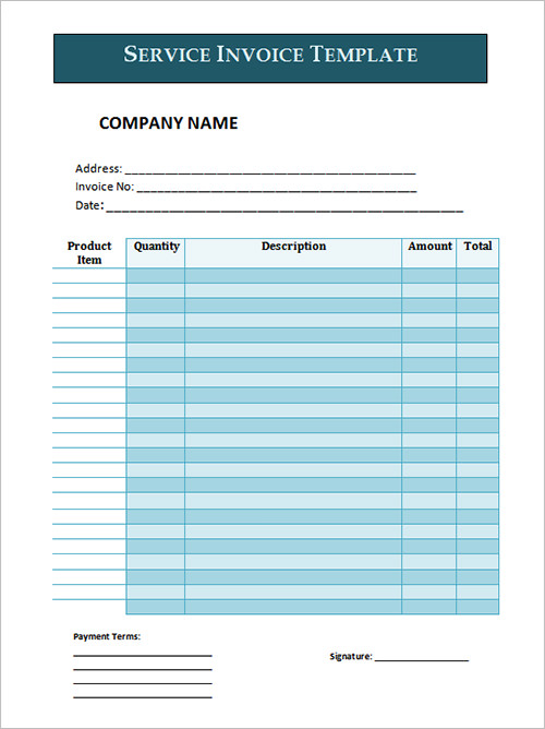 sample services invoice template excel .
