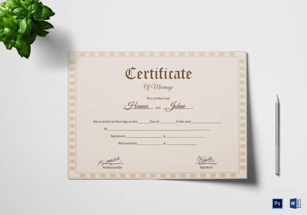 simple marriage certificate template1