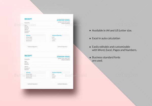 20 sample general receipt templates to download