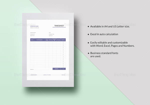 simple timesheet template4