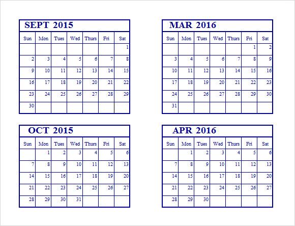excel calendars 2015