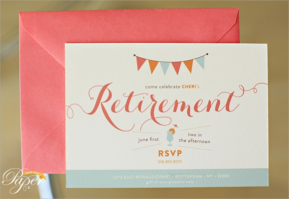 12 Retirement Party Invitations PSD AI – Printable Retirement Party Invitations