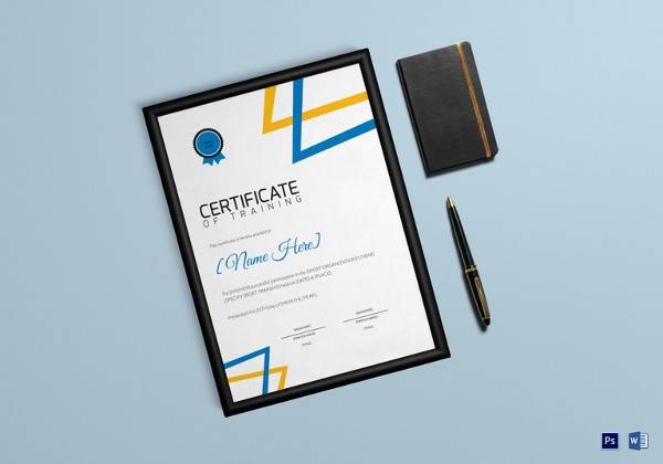 sports training certificate