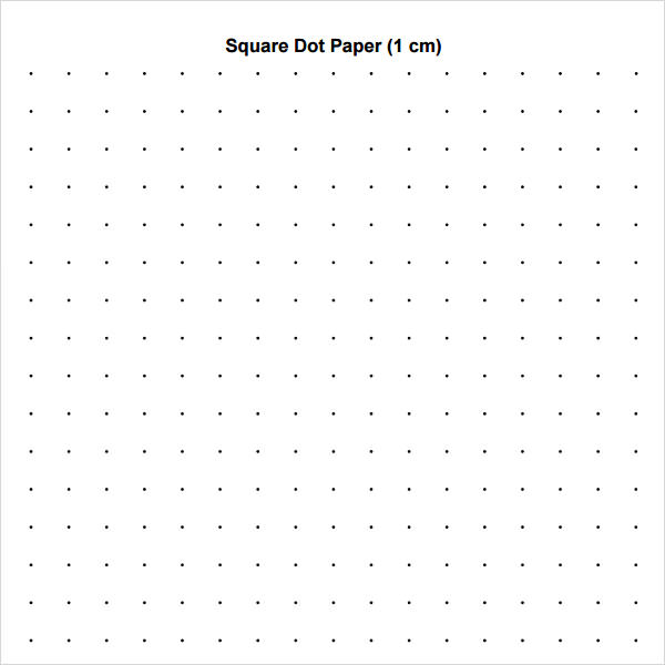 square dot paper template