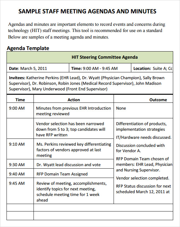 Sample Staff Meeting Agenda Template. Board Meeting Agenda U2013 14+ Download  Free Documents In PDF , Word
