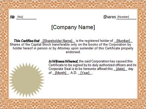 13  sample certificates