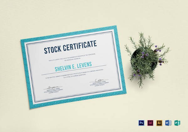 stock certificate template microsoft word - 5 sample stock certificate templates to download sample