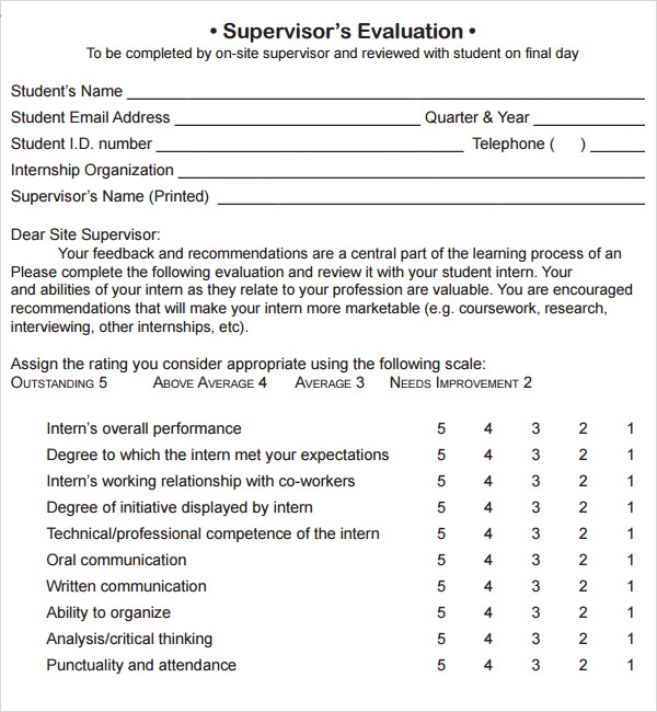 Manager Evaluation 6 Free Download For Pdf