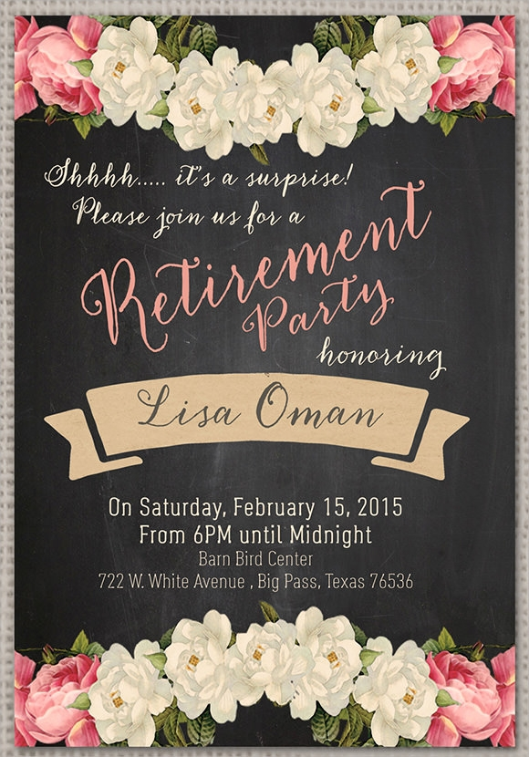 Surprise Retirement Party Invitation – Printable Retirement Party Invitations