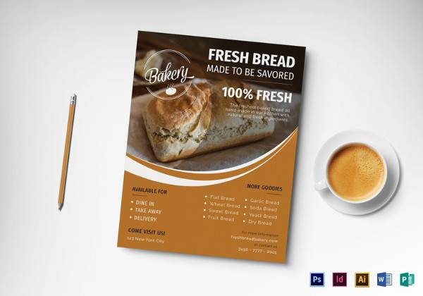 tasty bakery flyer template