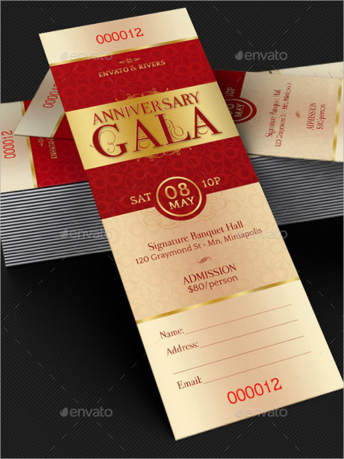 Sample invitation template download premium and free for Ticket invitation template free