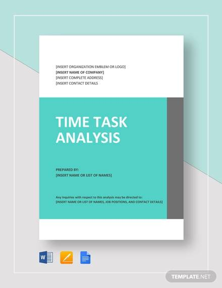 time task analysis example