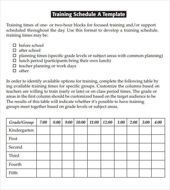 Workout Calendar Template Free