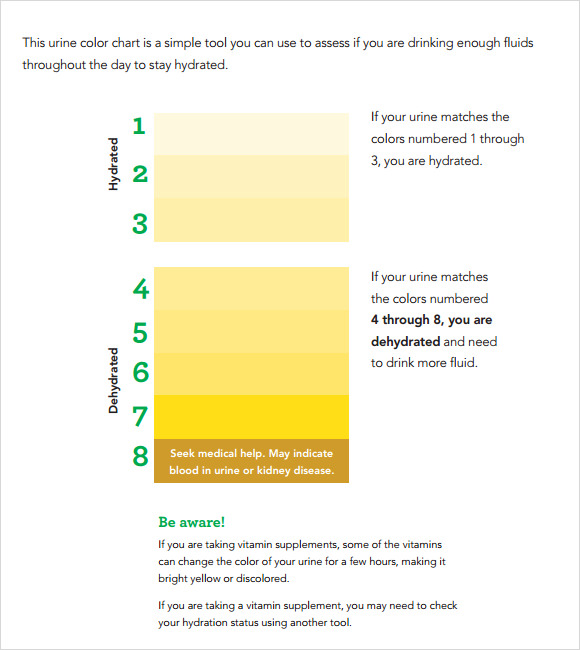 Urine Color Chart 9 Free Download For Pdf