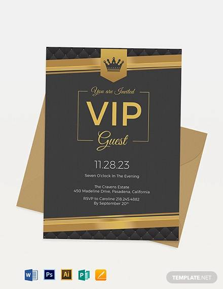 VIP-Invitation Vip Letter Template on vip button, vip flyer, vip airport welcome sign,
