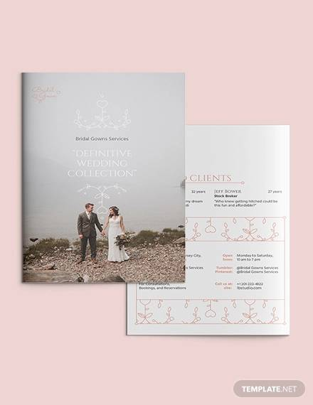 FREE 17+ Wedding Brochures in Illustrator | InDesign | MS