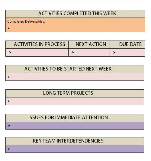 weekly activities report - Besik.eighty3.co