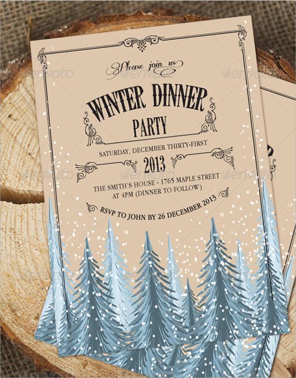 sample dinner invitations templates .