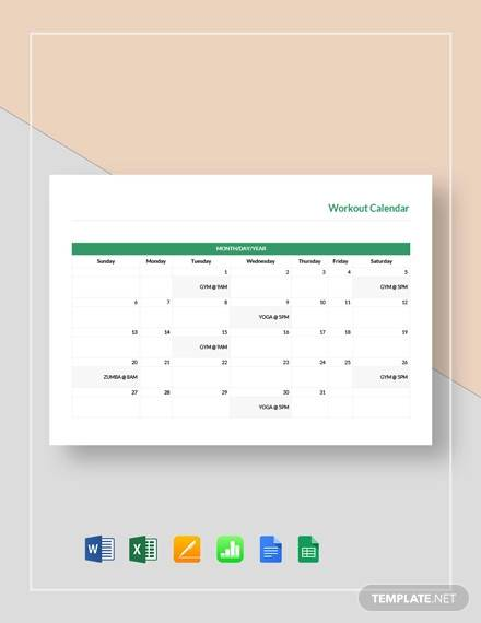 workout calendar template2
