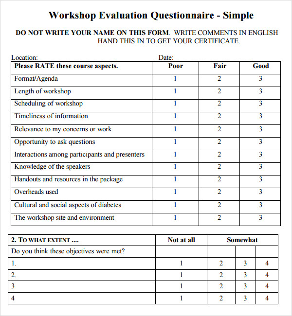 conference evaluation form template .