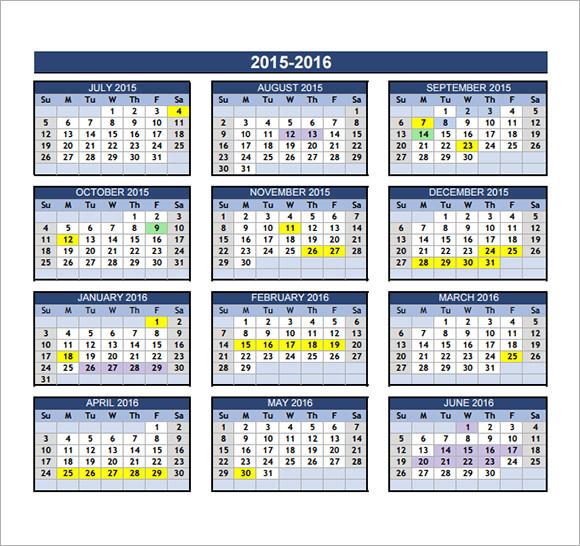 annual calendars