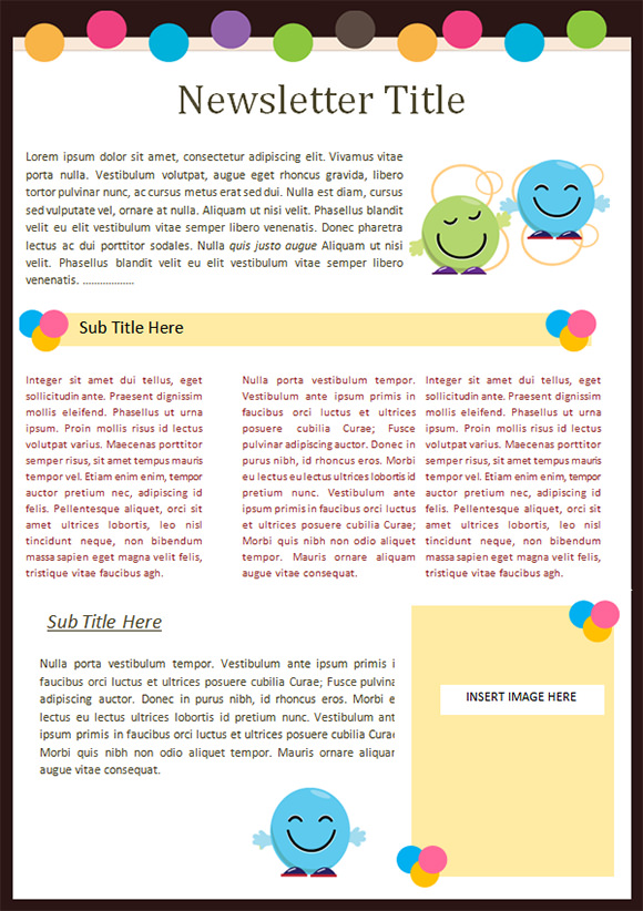 kindergarten newsletter template 14 download free