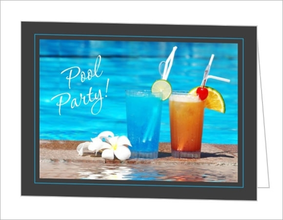 pool party invitation template