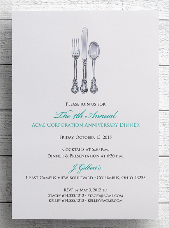 Sample dinner invitations templates spiritdancerdesigns Images
