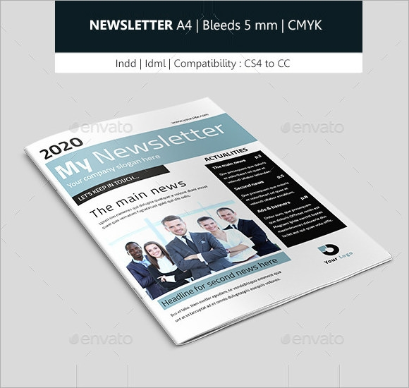 business newsletter indesign