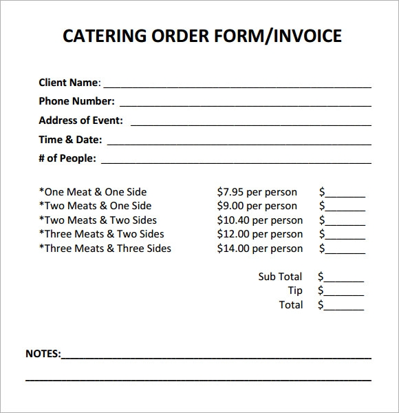 Catering Invoice Sample Invoice Template For Microsoft Word