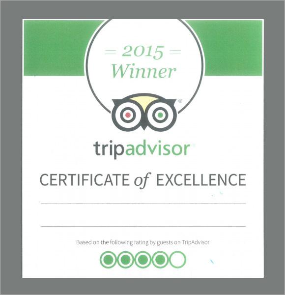 certificate of excellence tripadvisor1