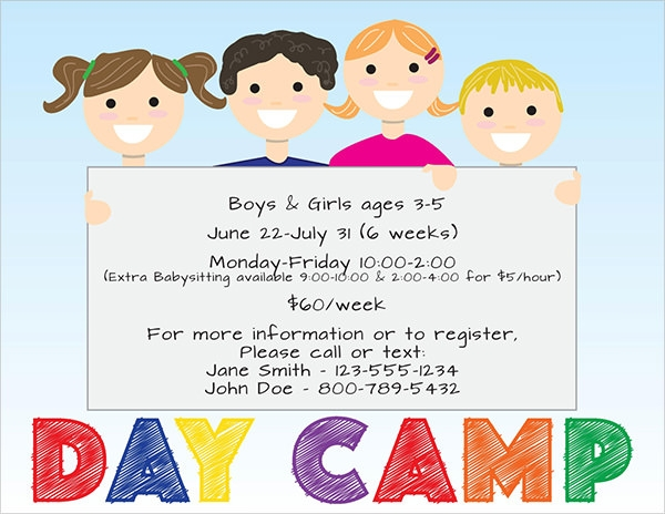 Day care flyer 8 premium download for Child care brochure templates free
