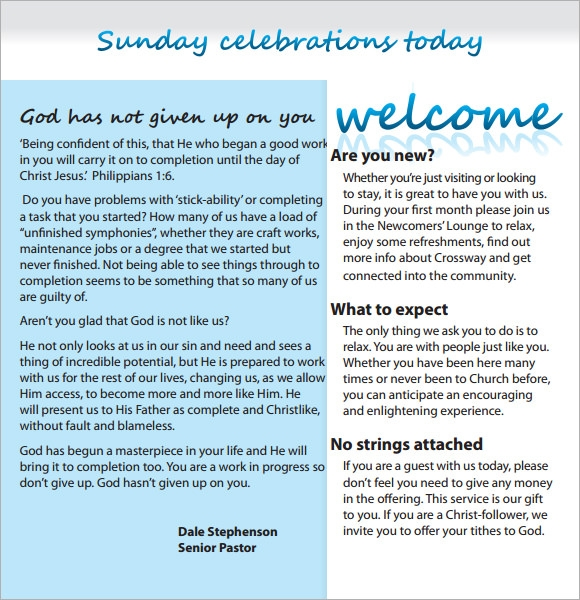 10  sample church newsletters