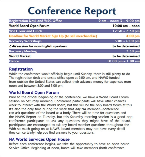 Sample Conference Agenda – 7+ Documents In Pdf, Word