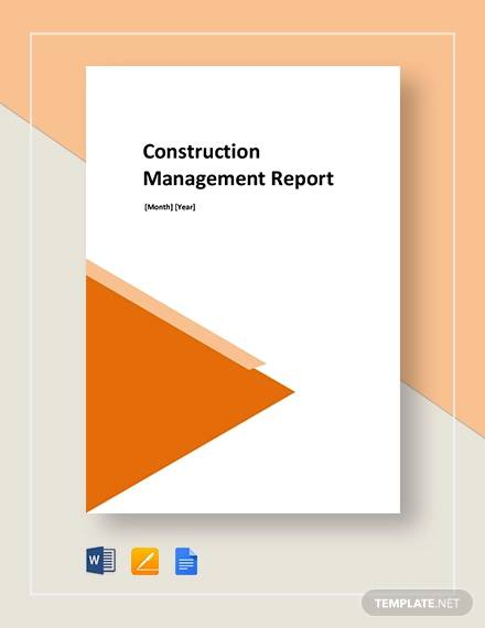construction report template