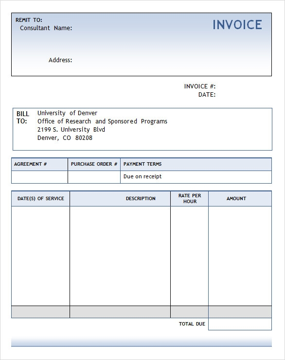 Doc572739 Invoice Template Free Word Invoice Template for – Invoice in Word