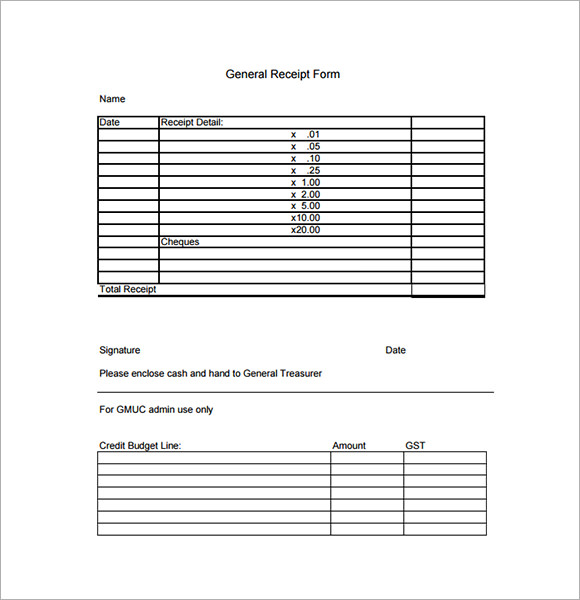 sample rent receipts templates .